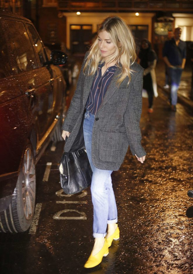 Sienna Miller – Arriving at the Bocca di Lupo Restaurant in London