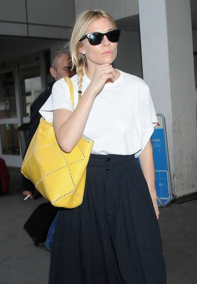 Sienna Miller at LAX airport in Los Angeles