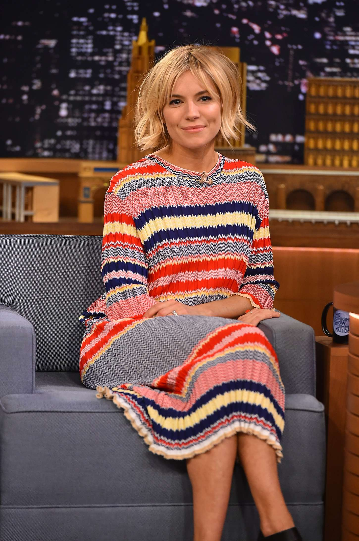 Sienna Miller At Quot The Tonight Show With Jimmy Fallon Quot In Nyc