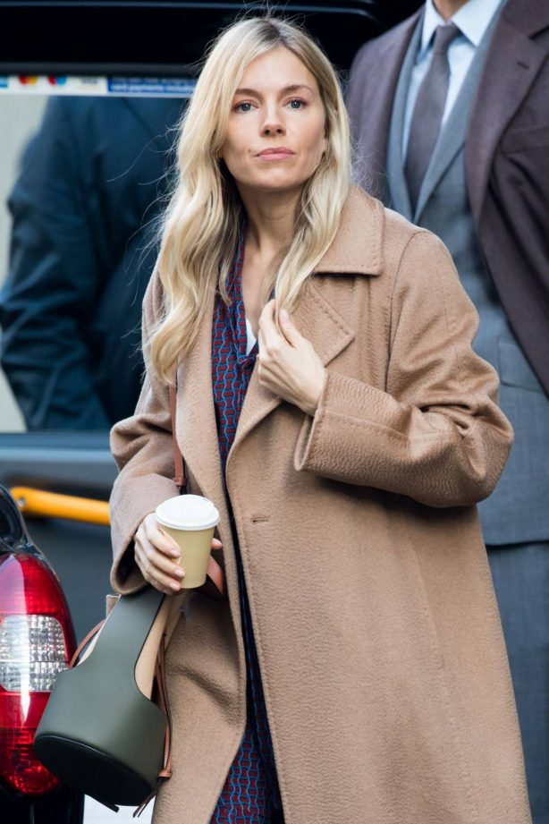 Sienna Miller - Filming 'Anatomy of a Scandal' in London