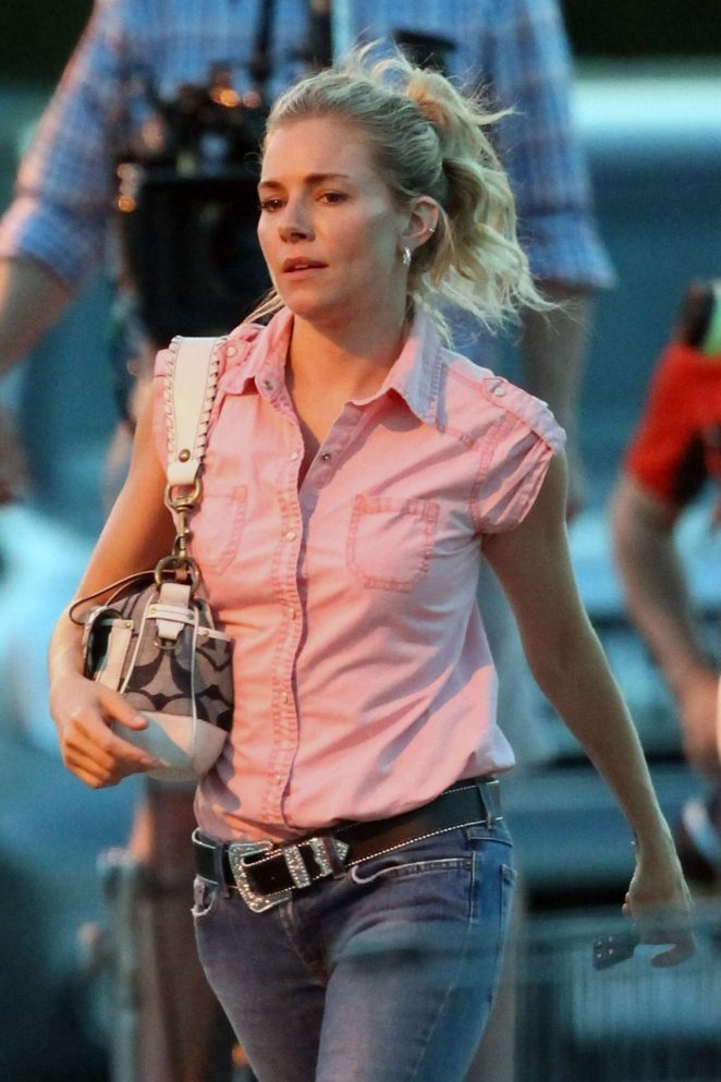 Sienna Miller Filming 'The Burning Woman' in Bridgewater