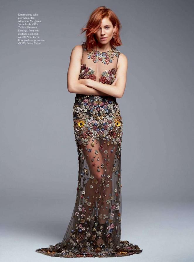 Sienna Miller – Harpers Bazaar UK Magazine (December 2015)
