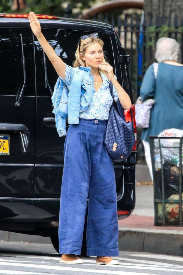 Sienna Miller head out for a coffee run in New York City