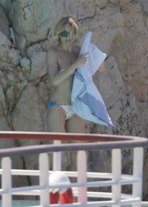 Sienna Miller in Bikini at Pool in Cannes