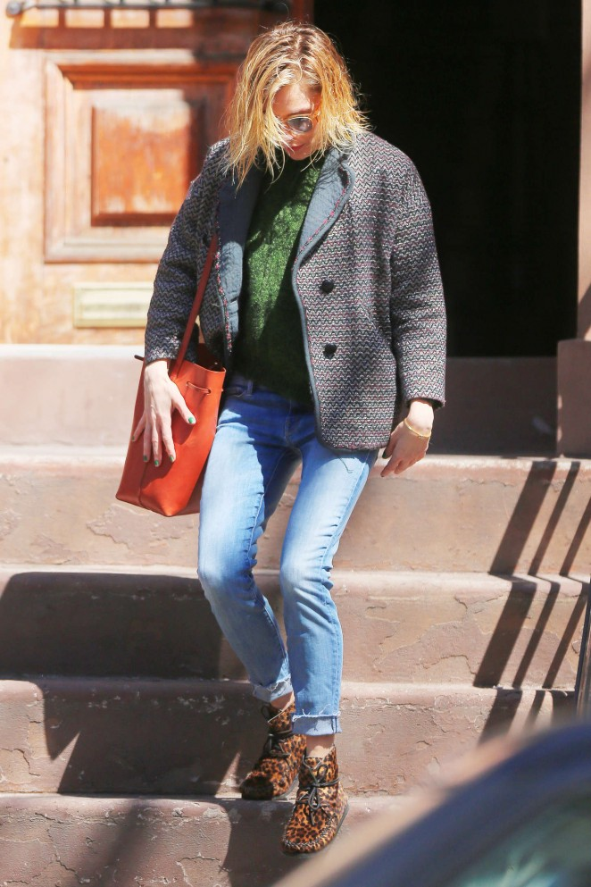 Sienna Miller in Jeans out in NYC