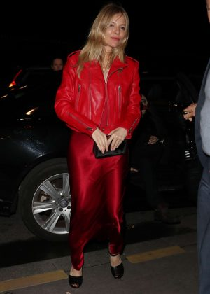 Sienna Miller in Red Out and about in Paris