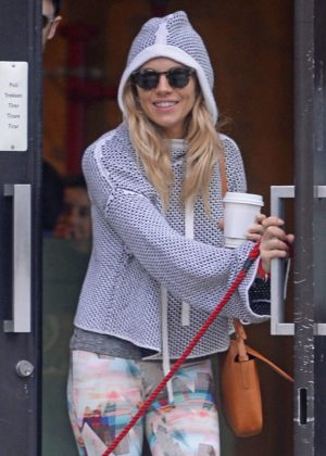 Sienna Miller in Tights Out and about in New York
