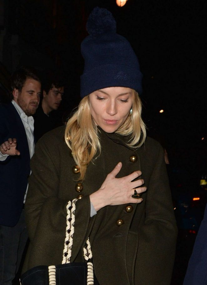 Sienna Miller Leaves Isabel restaurant in Mayfair