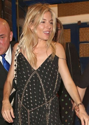 Sienna Miller Leaving Annabels private members club in Mayfair