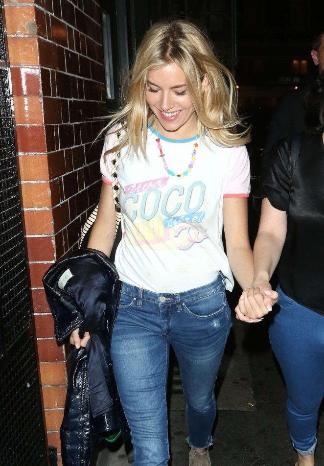 Sienna Miller - Leaving Apollo Theatre in London