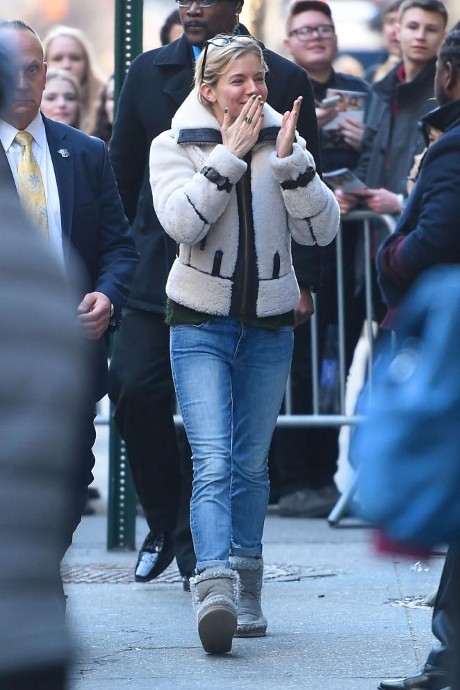 Sienna Miller - Leaving Broadway in NYC
