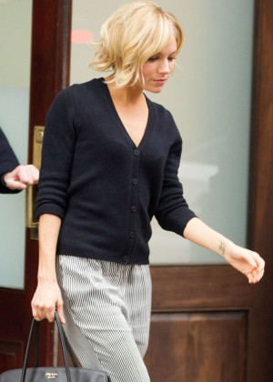 Sienna Miller - Leaving her hotel in New York
