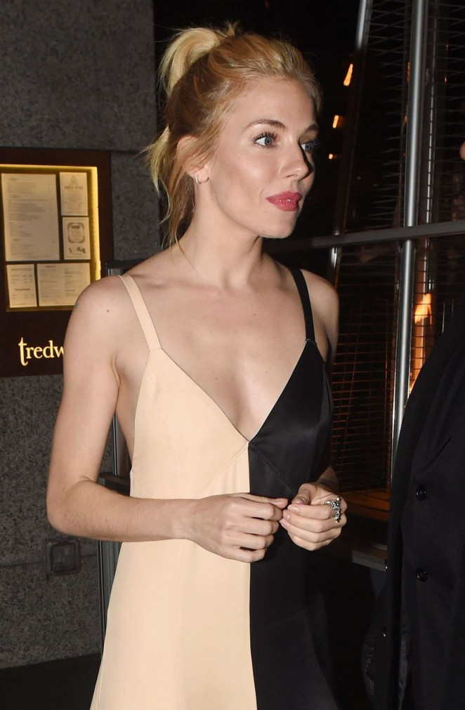 Sienna Miller – Leaving Tredwell's in London