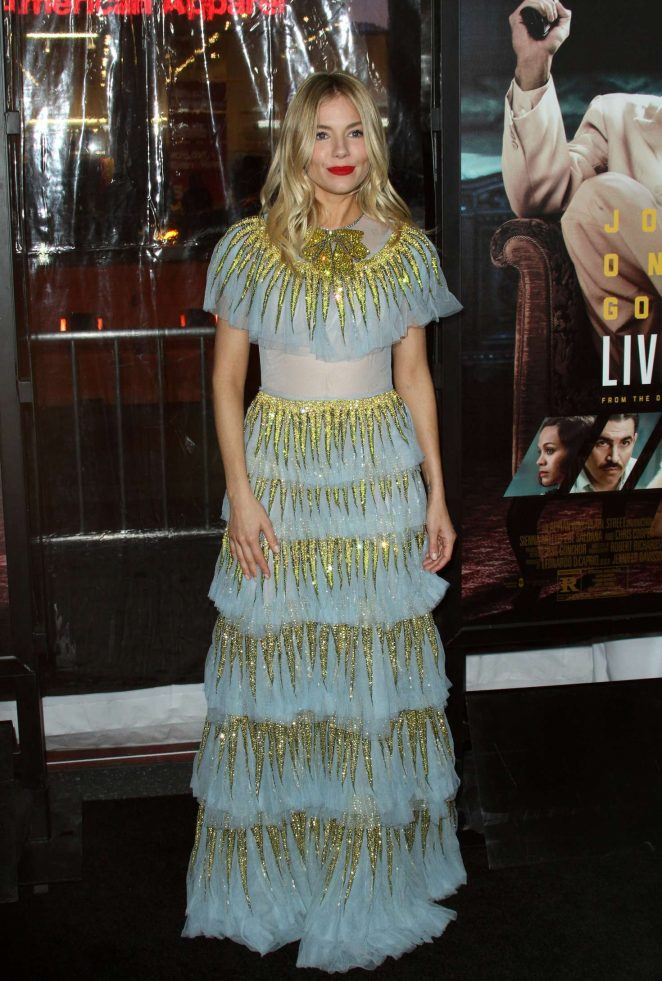 Sienna Miller - 'Live By Night' Premiere in Los Angeles