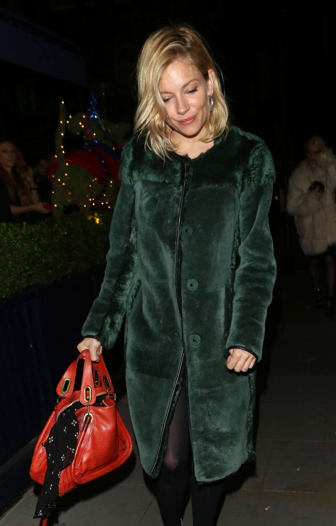 Sienna Miller - LOVE Magazine Christmas Party in London
