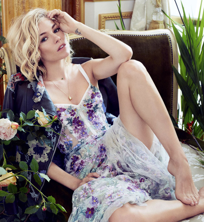 Sienna Miller - Marie Claire US Magazine (October 2015) adds