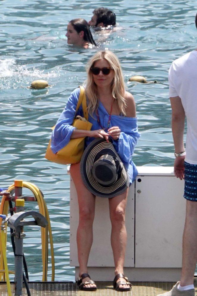 Sienna Miller on holiday in Positano