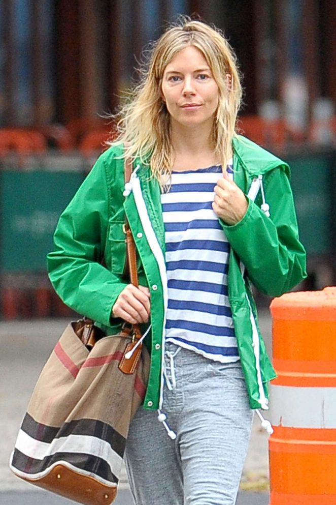 Sienna Miller out and about in Soho