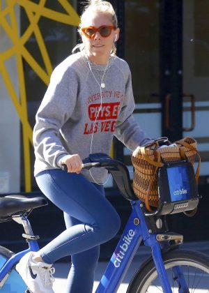 Sienna Miller - Out for a bike ride in New York City