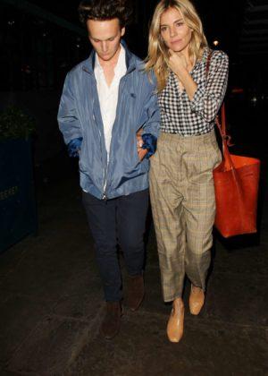 Sienna Miller - Seen leaving J Sheekey Restaurant in Central London