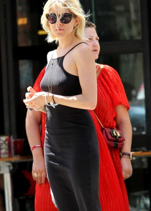 Sienna Miller in Black Dress Shopping in NYC