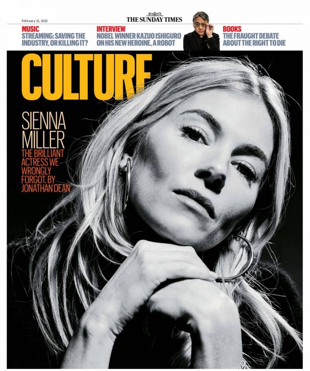 Sienna Miller - The Sunday Times Culture (February 2021)