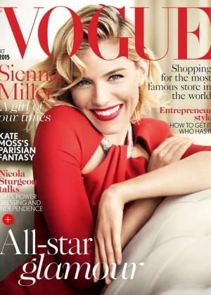Sienna Miller - Vogue UK Magazine Cover (October 2015)