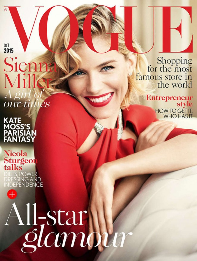 f2f9fff75f32a Sienna Miller – Vogue UK Magazine Cover (October 2015) | GotCeleb