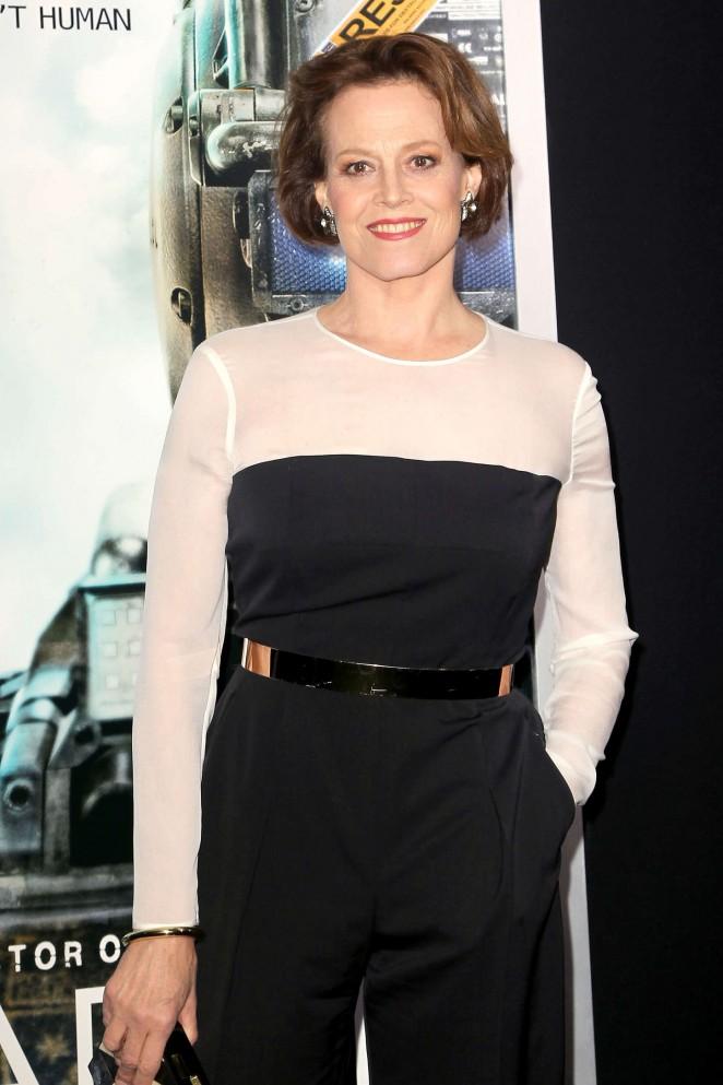 "Sigourney Weaver - ""Chappie"" Premiere in NYC"