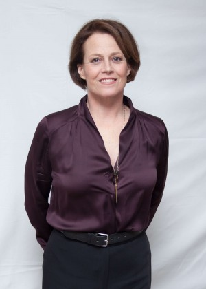"Sigourney Weaver - ""Chappie"" Press Conference Portraits in New York"