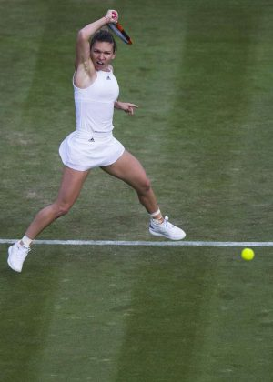 Simona Halep at Wimbledon Championships 2017 in London