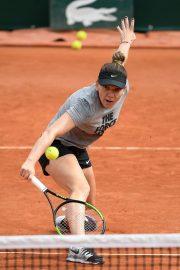 Simona Halep - Practises at 2019 Roland Garros in Paris