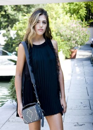 Sistine Rose Stallone at the Excelsior Hotel in Venice