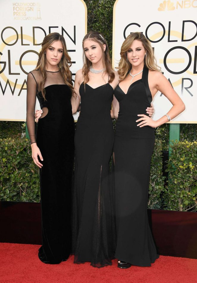 Sistine, Sophia and Scarlet Stallone - 74th Annual Golden Globe Awards in Beverly Hills