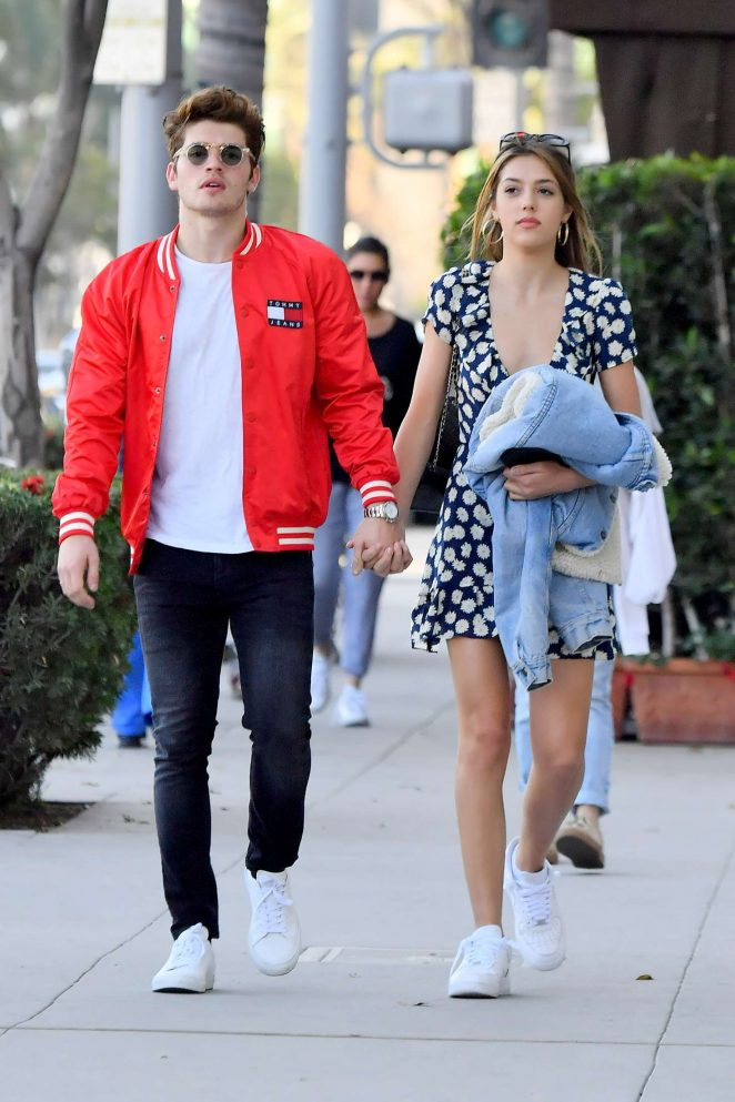 Sistine Stallone and Gregg Sulkin - Holding hands as they leave All Saints in Beverly Hills