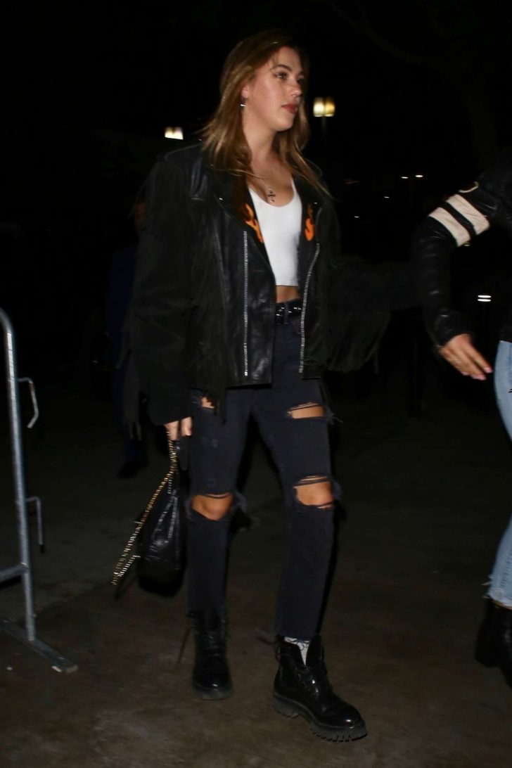 Sistine Stallone - Arrives at the Justin Timberlake concert in LA