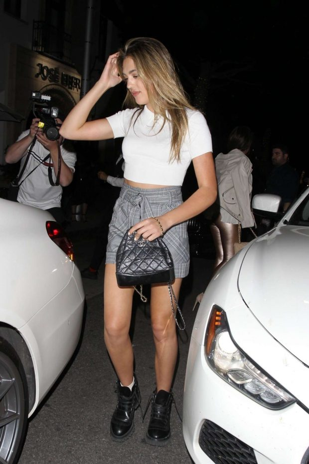 Sistine Stallone in Shorts: Leaves Madeo restaurant -01