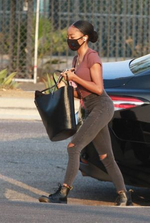 Skai Jackson - Heads into pratice at the DWTS studio in Los Angeles