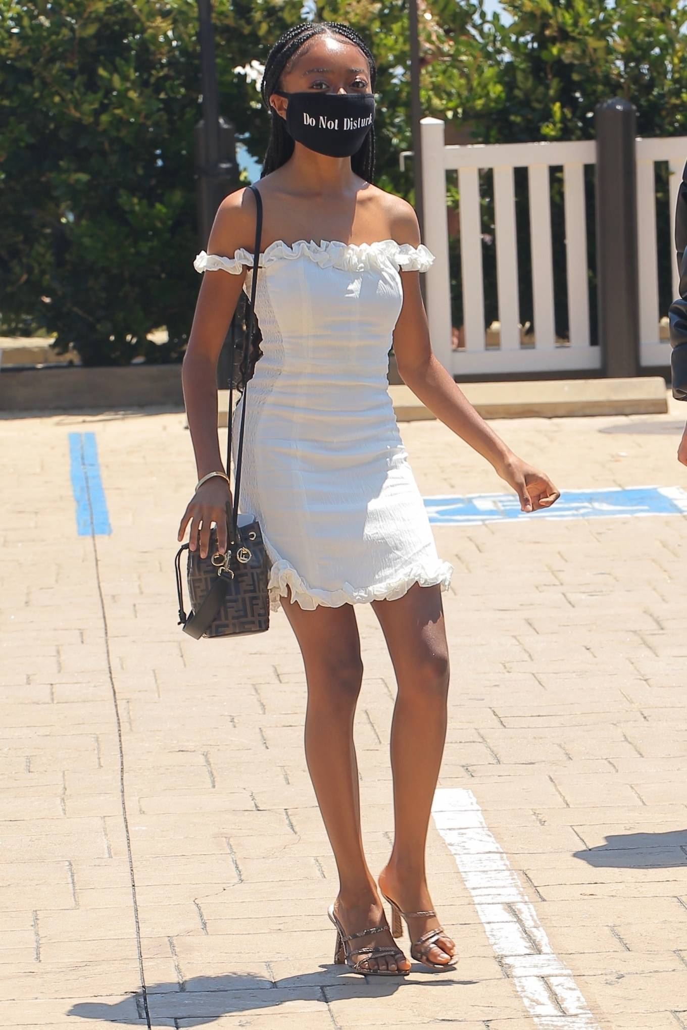 Skai Jackson 2020 : Skai Jackson – Looks chic in her white dress in Malibu-01