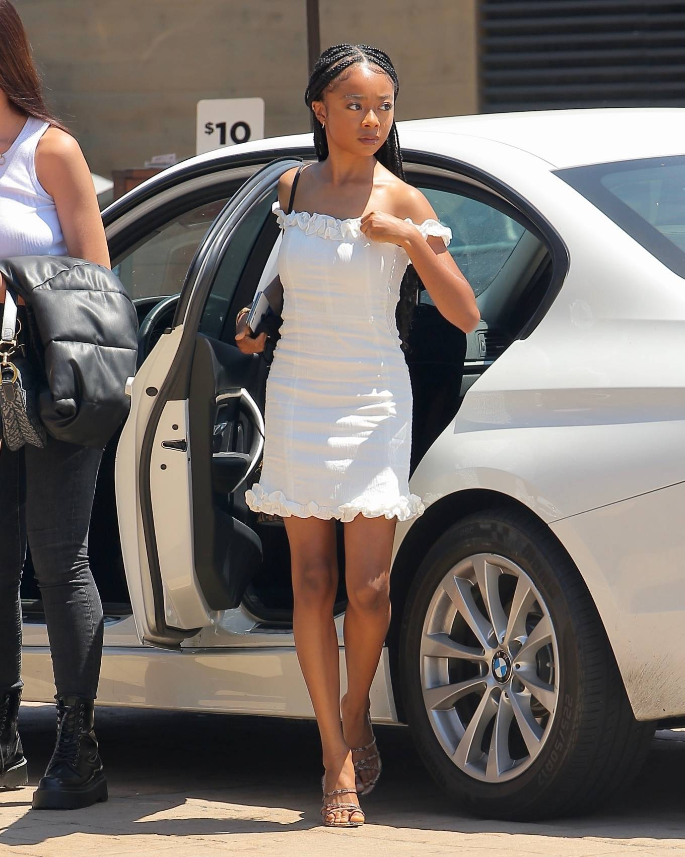 Skai Jackson 2020 : Skai Jackson – Looks chic in her white dress in Malibu-15