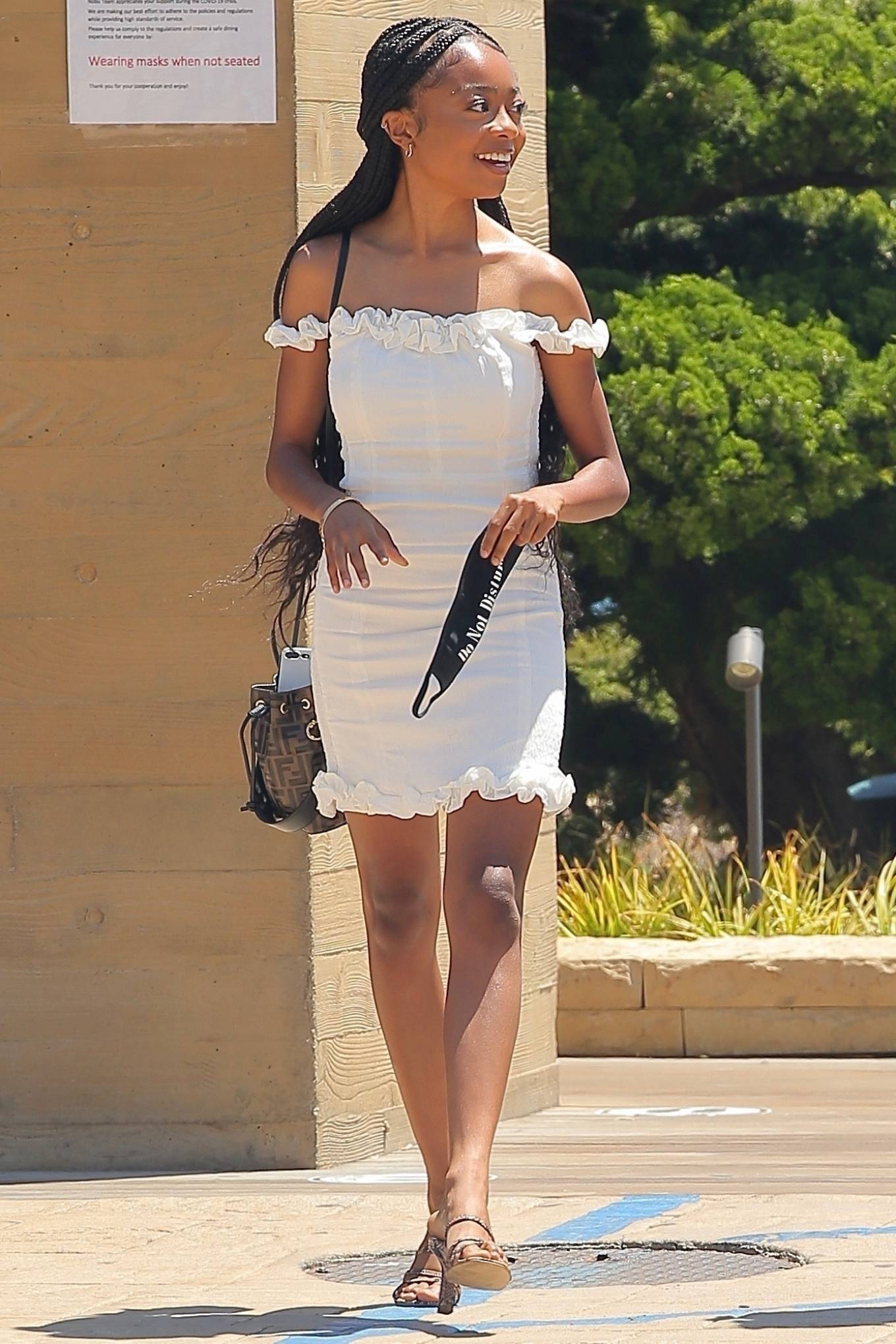 Skai Jackson 2020 : Skai Jackson – Looks chic in her white dress in Malibu-16