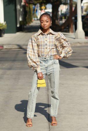 Skai Jackson - Posing on Melrose Street in West Hollywood