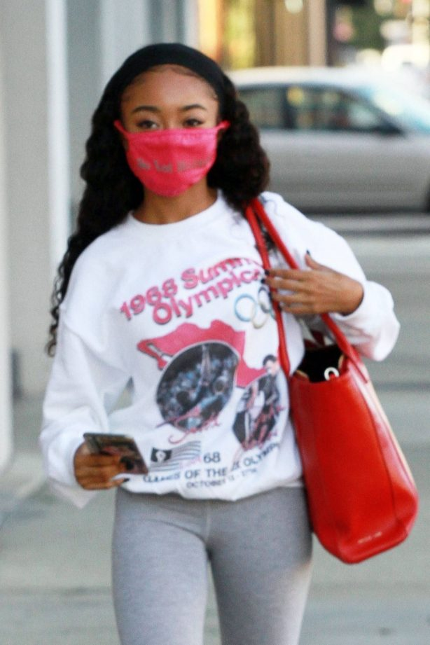 Skai Jackson - Seen as she heads to the DWTS studio in Los Angeles