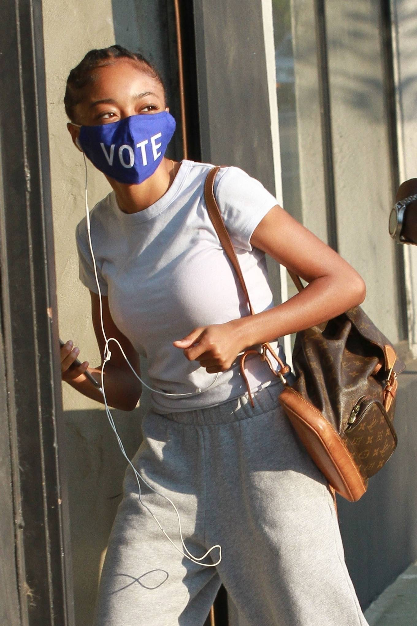 Skai Jackson - Seen at the DWTS studio in Los Angeles