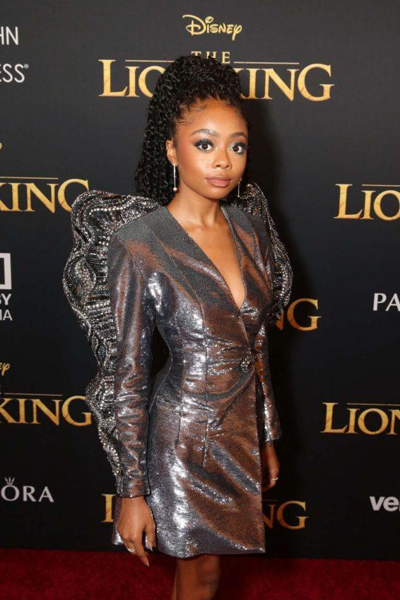 Skai Jackson - 'The Lion King' Premiere in Hollywood