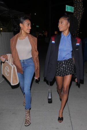 Skai Jackson - With Lexi Underwood night out in Beverly Hills