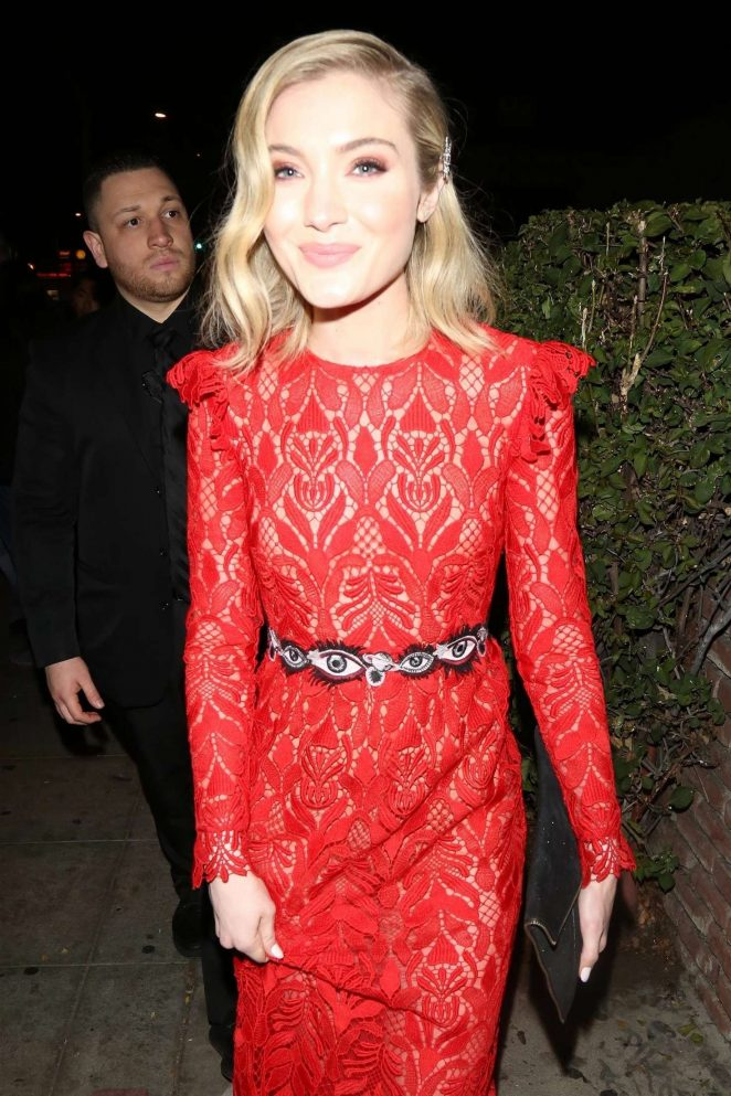 Skyler Samuels in Red Dress - Marie Claire's Image Maker Awards at Delilah in West Hollywood