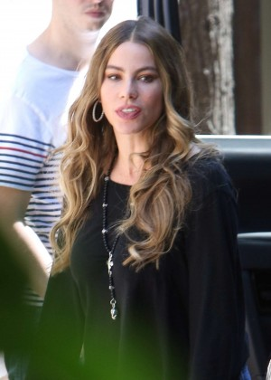 Sofía Vergara at her new home in LA