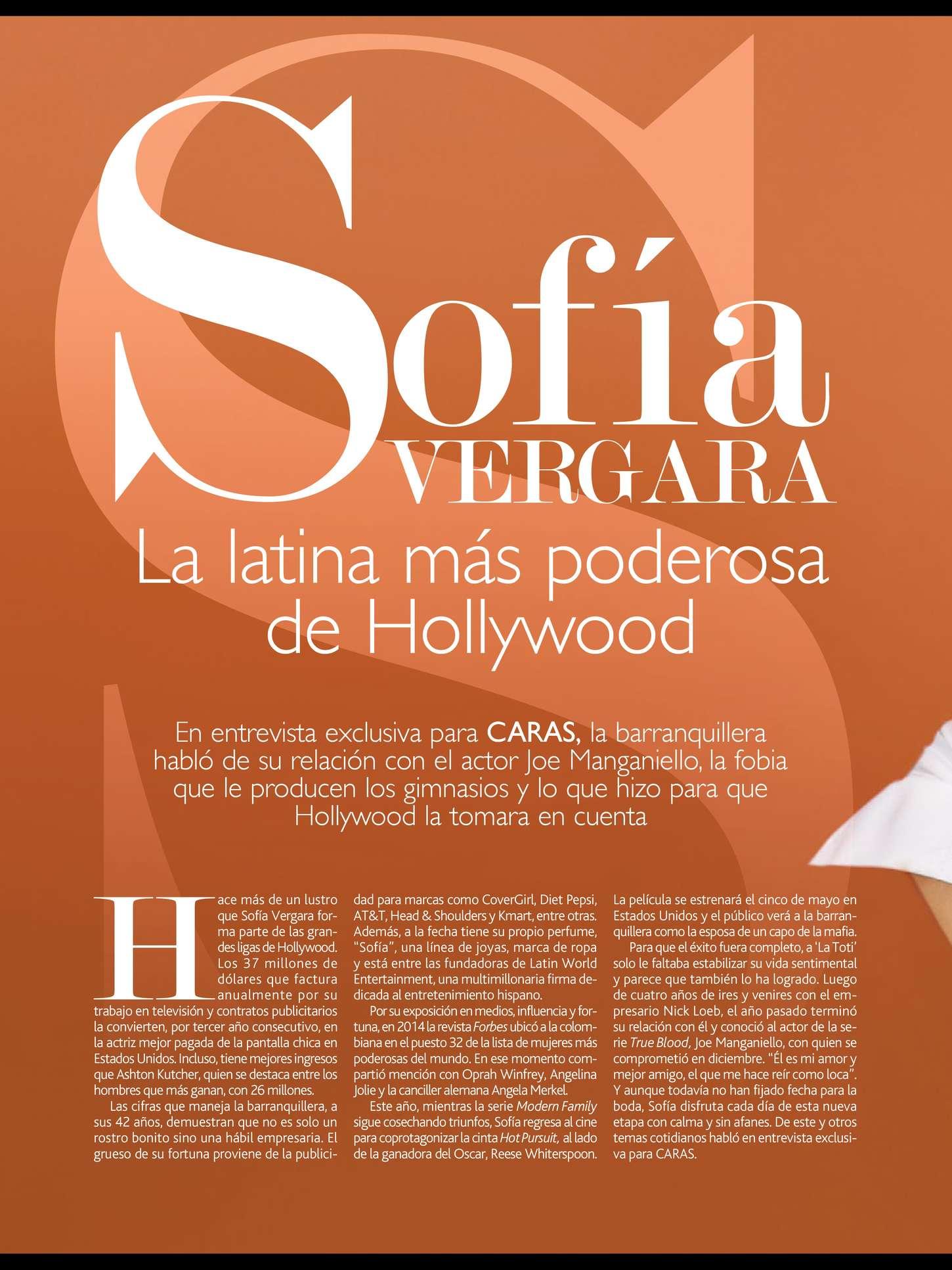 Uncategorized 2015 : Sofía Vergara: Caras Magazine 2015 -01