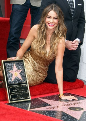 Sofía Vergara - Honored with a star on the Hollywood Walk of Fame in Hollywood